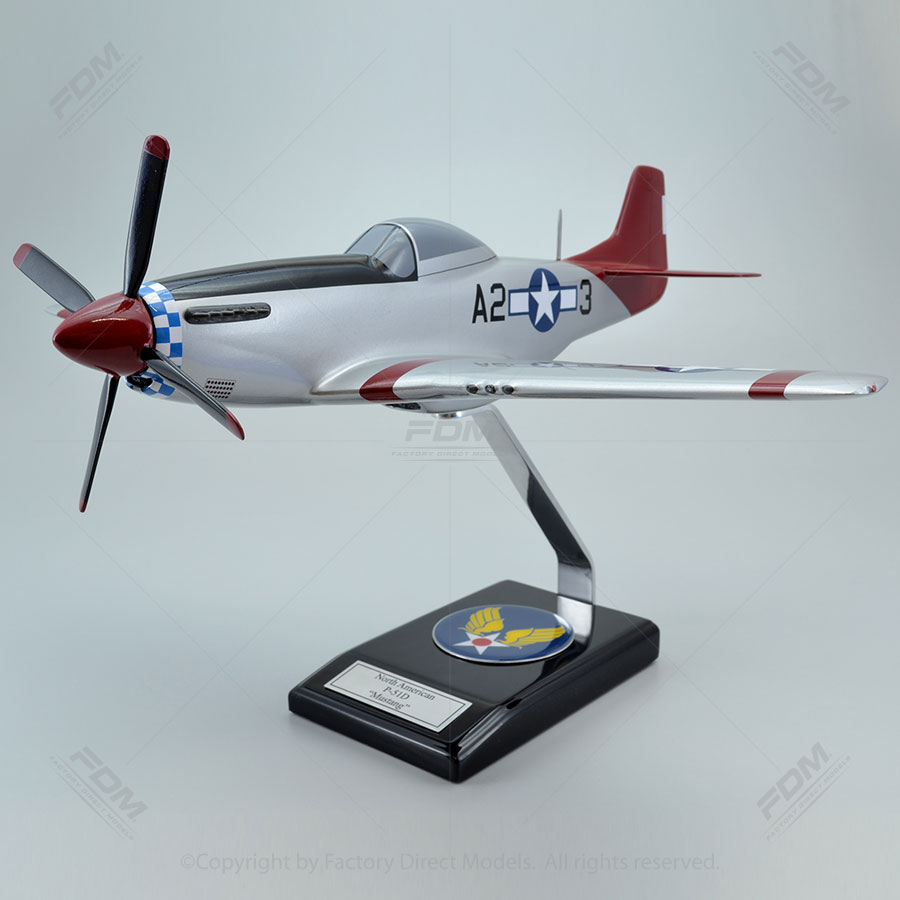 "North American P-51D Mustang ""Tuskegee Airmen"" Model Airplane"