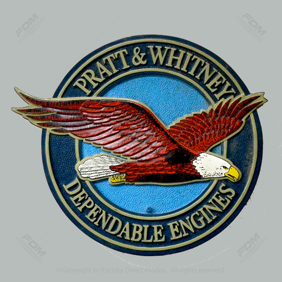 Pratt & Whitney Wood Engraved Wall Plaque