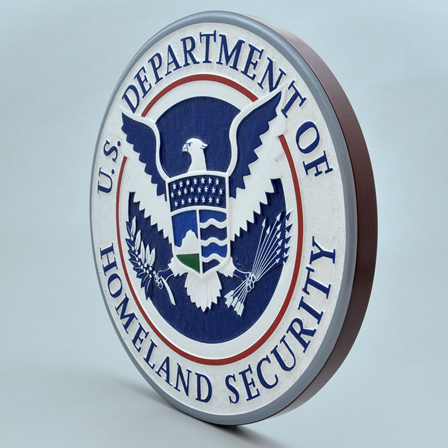 US Department of Homeland Security Wall Plaque | Factory ...