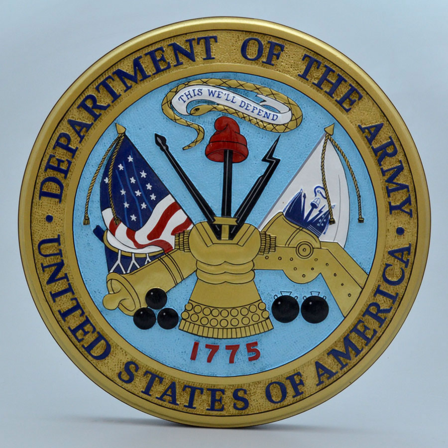 "US Department of the Army 14"" Wall Plaque"