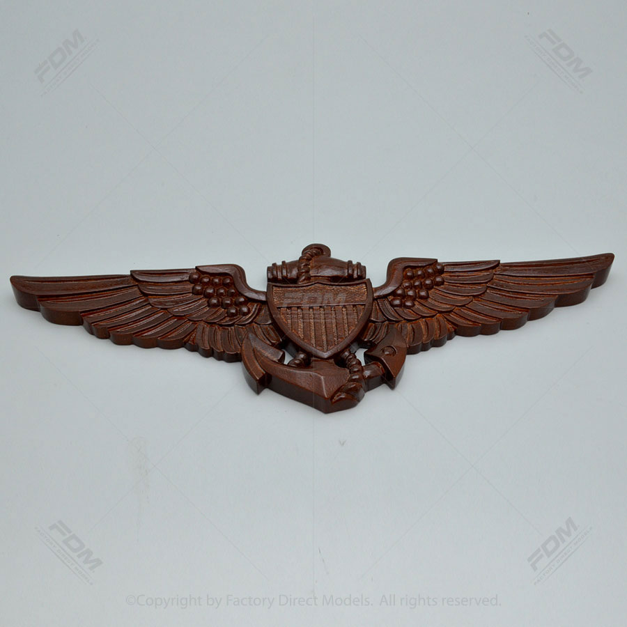 "US Navy Pilot Wings 30"" Wooden Wall Plaque"