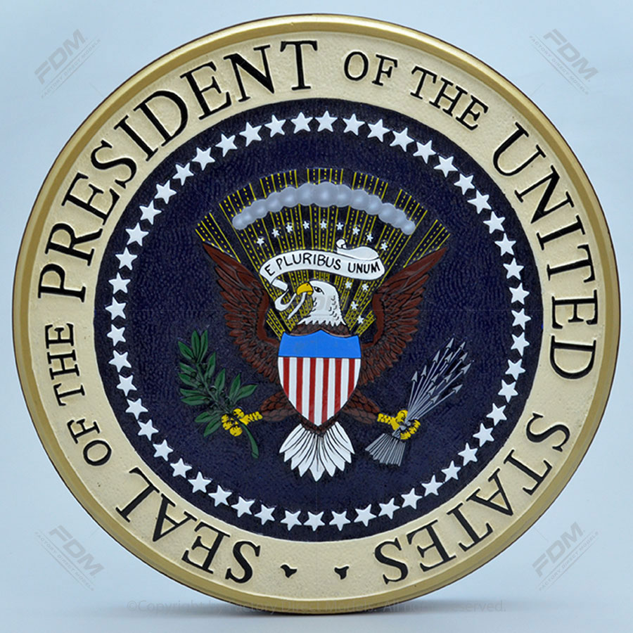 US Presidential Seal Wooden Wall Plaque