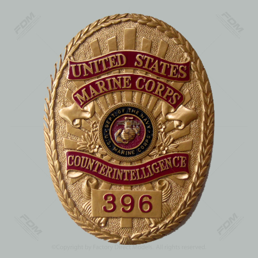 USMC Counterintelligence Wooden Wall Plaque