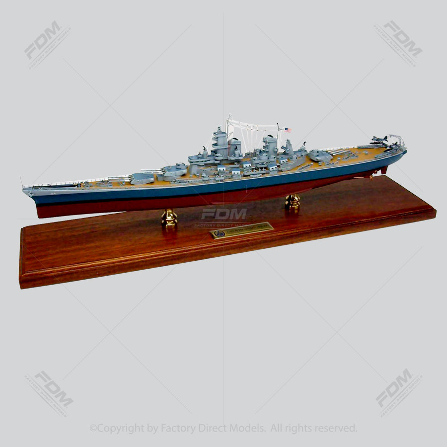 USS Wisconsin (BB-64) Model Ship