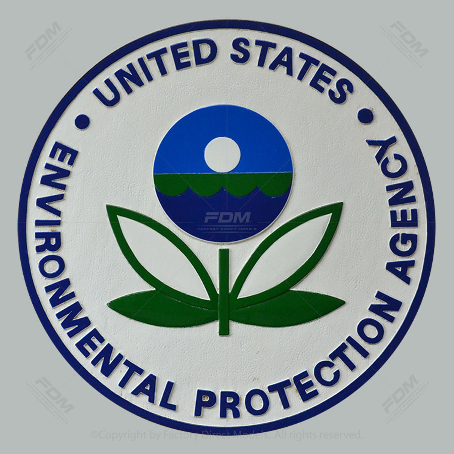 United States Environmental Protection Agency Wooden Wall Plaque 14""