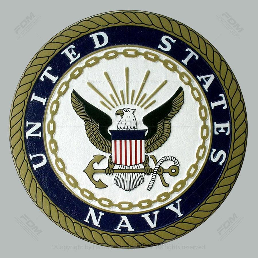 US Navy Emblem Wooden Wall Plaque