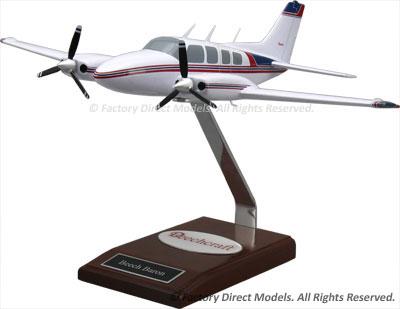Beechcraft 58 Baron Wooden Model