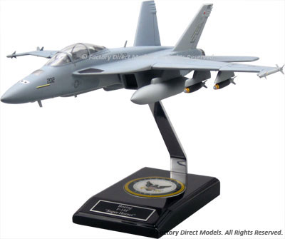 Boeing F/A-18F Super Hornet Scale Model with Interior Details