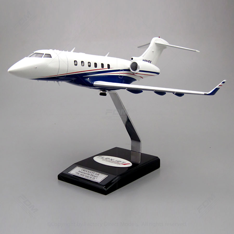 Bombardier Challenger 350 Model with Detailed Interior