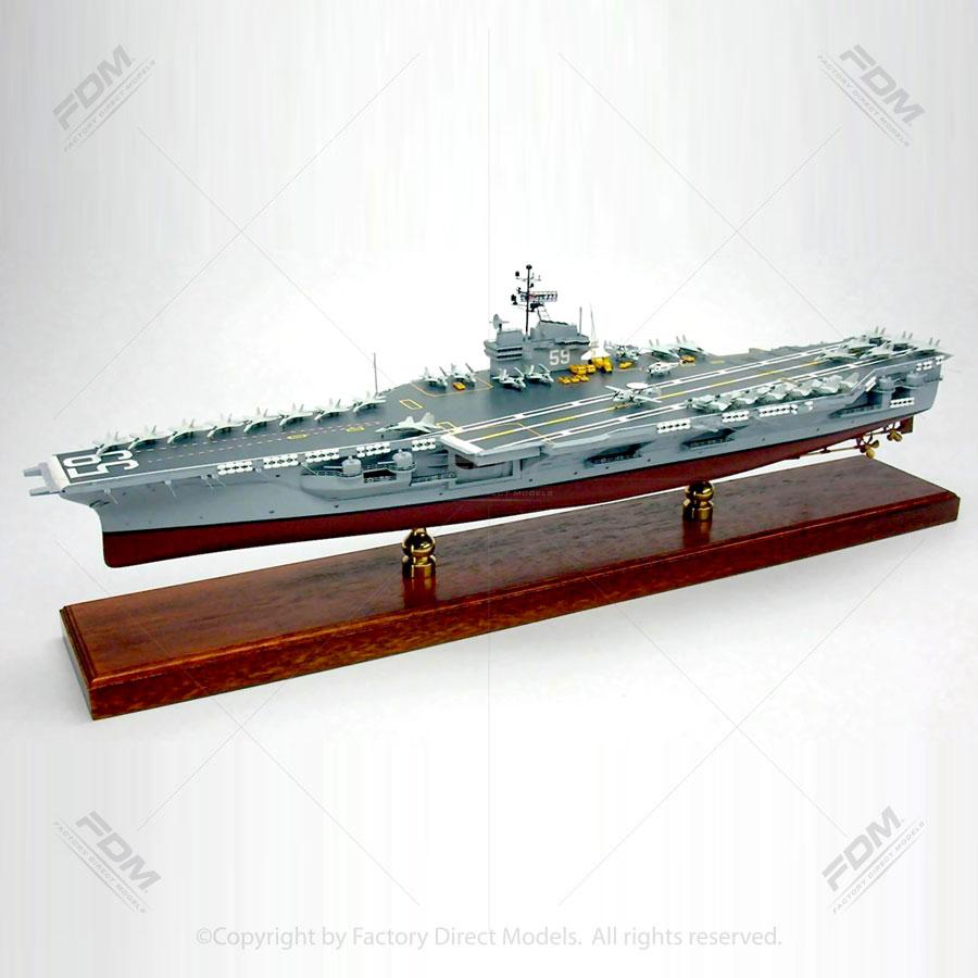 uss forrestal  cv 59  model ship
