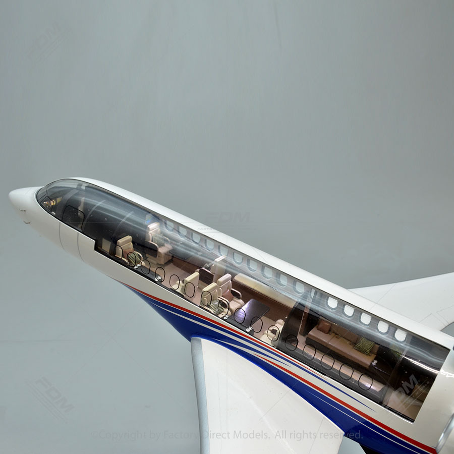 Dassault Falcon 8x Model With Detailed Interior And Lights