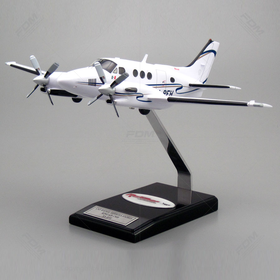Beechcraft King Air C 90 Custom Mahogany Model Factory