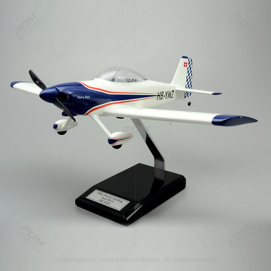 Vans Aircraft Rv 4 Model With Detailed Interior