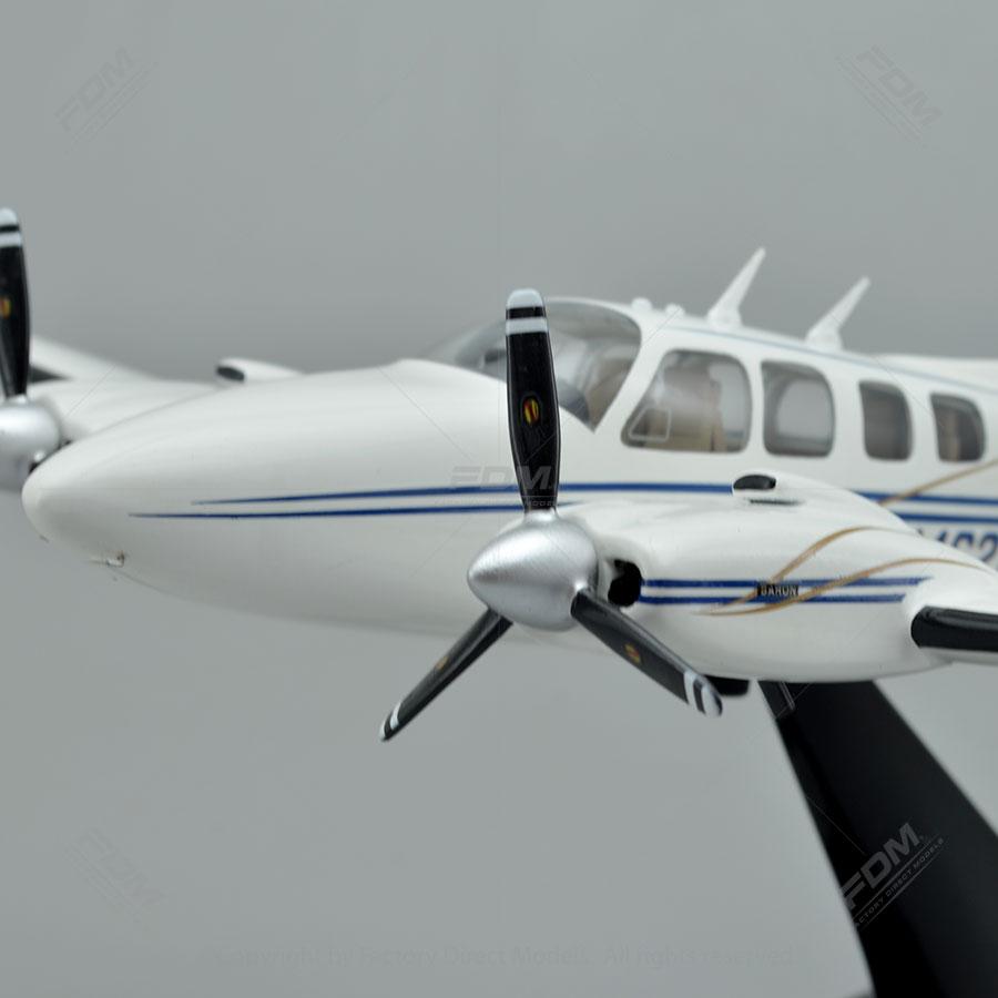 Beechcraft Baron 58 Wooden Airplane Models | Factory Direct