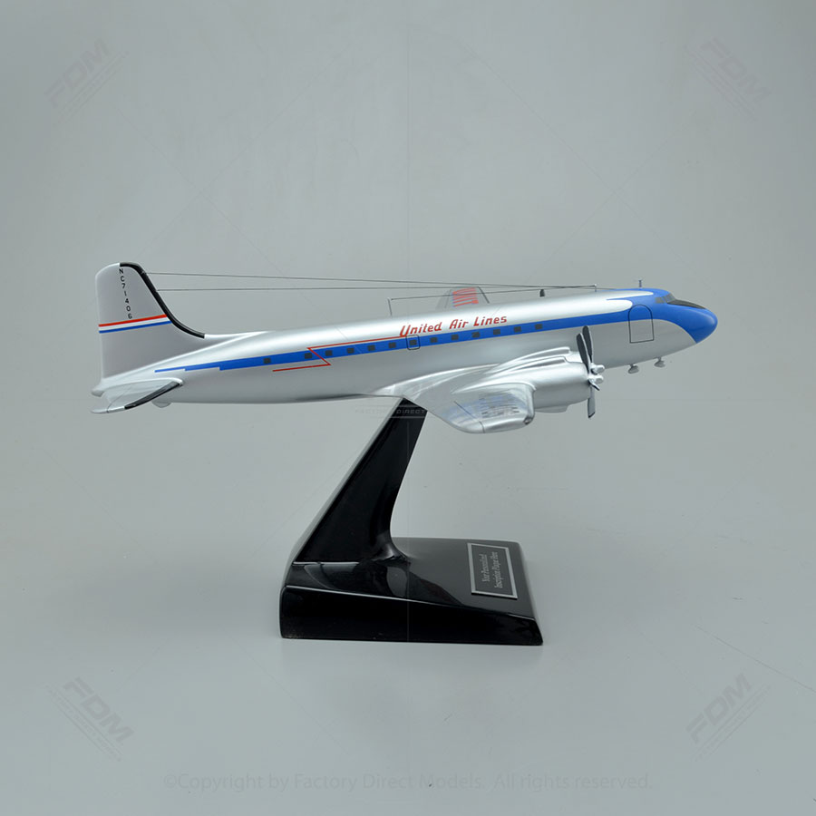 Douglas DC-4 United Airlines Model Airplane