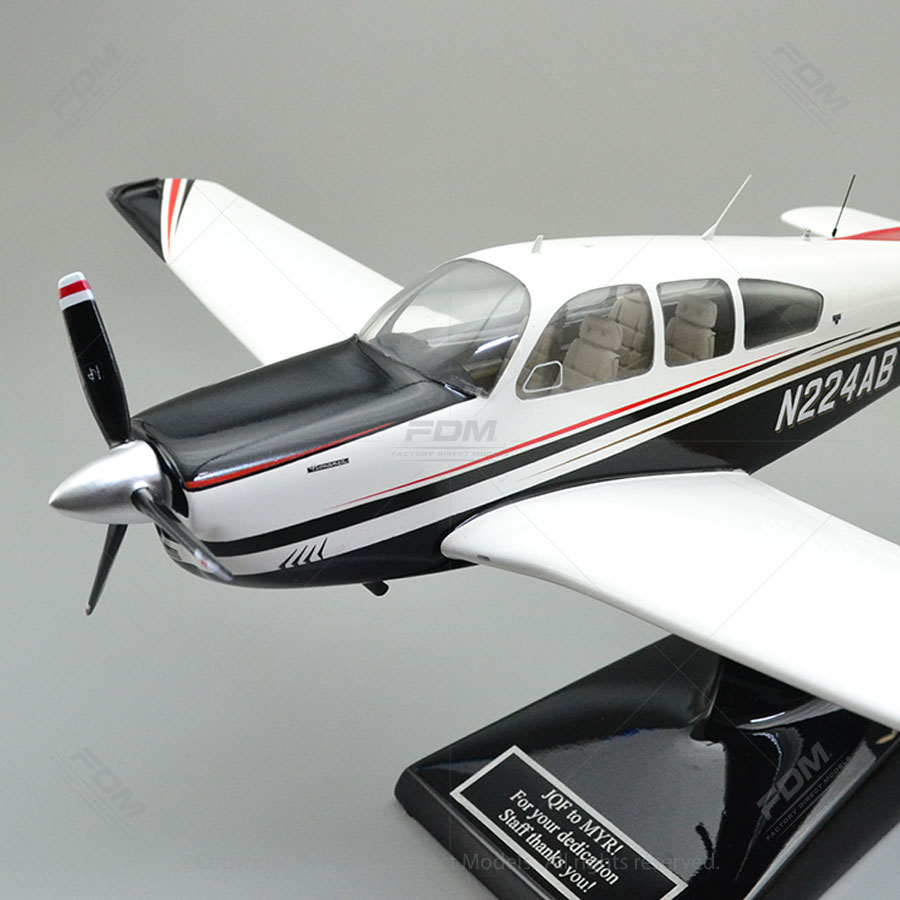 Custom Made Beechcraft Bonanza F33A Model Airplane with