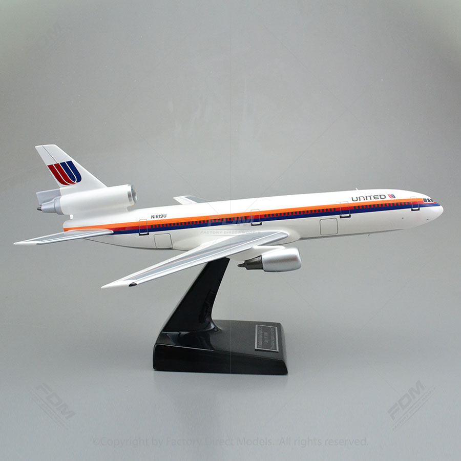 Custom Made McDonnell Douglas DC-10 United Airlines Model