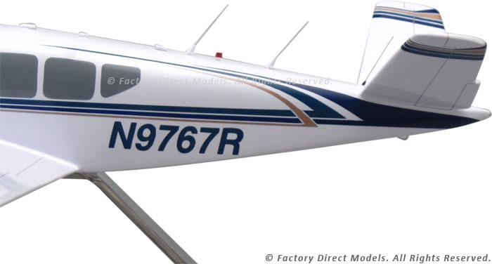 Beechcraft Bonanza M35 Wooden Airplane Model | Factory