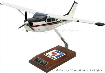 Cessna T-210F Turbo Centurion Model Airplane | Factory Direct Models
