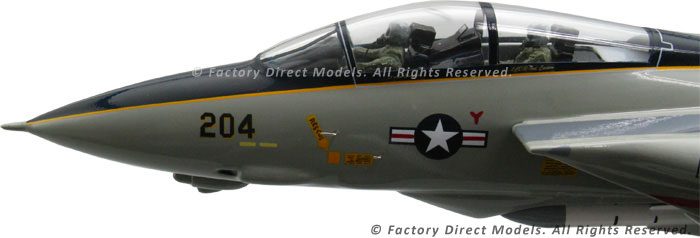 sc 1 st  Factory Direct Models & Grumman F-14 Tomcat Clear Canopy Model Airplane