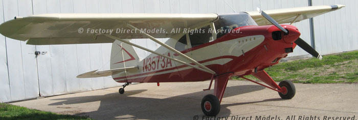Piper PA-22-135 Tri-Pacer Wooden Model Plane | Factory