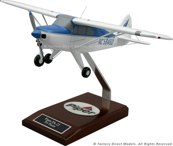 Piper PA-22 Tri Pacer Model Airplane | Factory Direct Models
