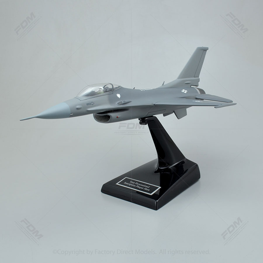Lockheed Martin F-16C Fighting Falcon Model Airplane with Detailed Interior