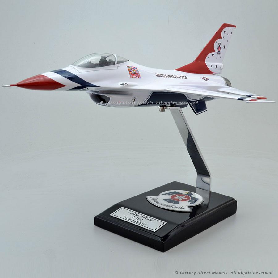 Lockheed Martin F-16C Thunderbirds Model with Detailed Interior